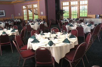 Banquet room at Superior Shores Resort.