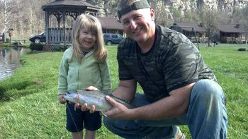 Fishing at Smoke Hole Caverns & Log Cabin Resort.
