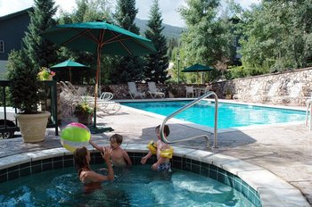 Outdoor Pool and Hot Tub at The Borders Lodge