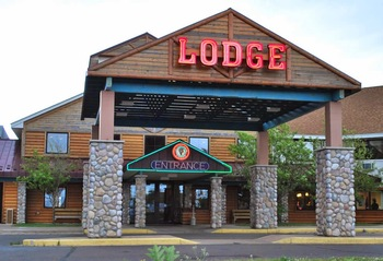 Exterior view of LCO Casino, Lodge & Convention Center.