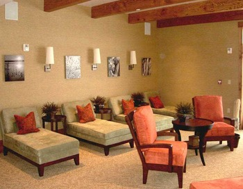 Spa lounge at Teton Springs Lodge.