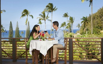 Outdoor dining at Travaasa Hana.