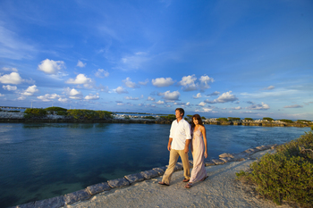 Beach walk at Hawks Cay Resort.