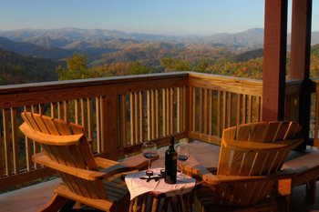 Romantic View from Cabin at Foscoe Rentals