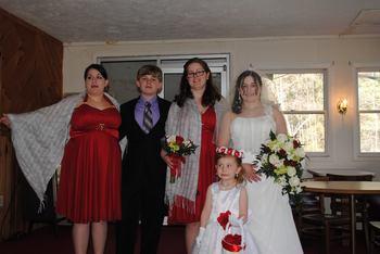 Wedding at Daniels Family Lodge.