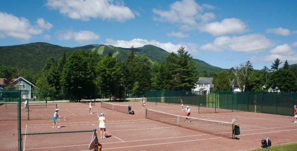 Tennis courts at Waterville Valley Resort.