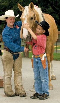 Kid With Horse at  Rocking Horse Ranch