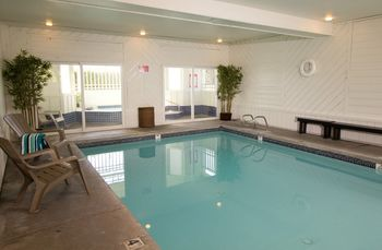Indoor pool at The Wayside Inn.