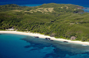 Aerial view of Yasawa Island Resort & Spa.