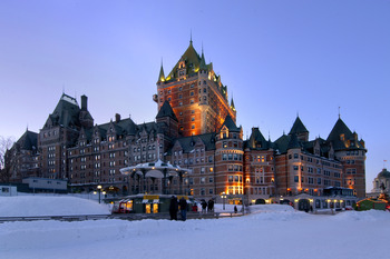 Exterior view of Fairmont Le Chateau Frontenac.