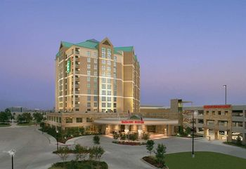 Exterior view of Embassy Suites Dallas.