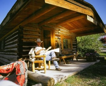 Relax at the cabin at 320 Guest Ranch.