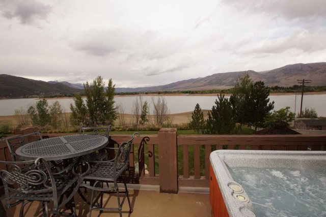 Rental balcony view at Lakeside Resort Properties.