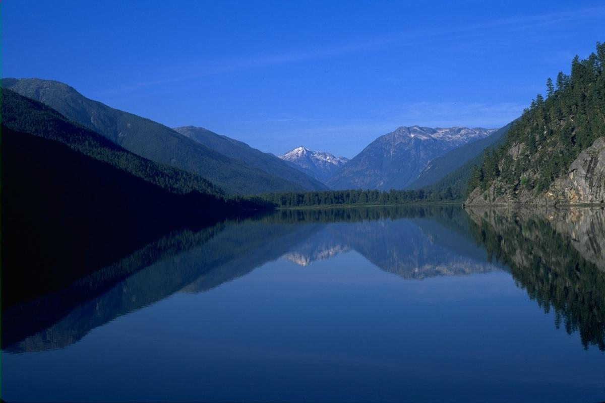 Lake at REO Rafting Resort.