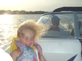 Boating on lake at Sunset Bay Resort.
