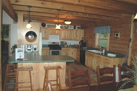 Mountain Lodge kitchen at Cabins in Hocking.