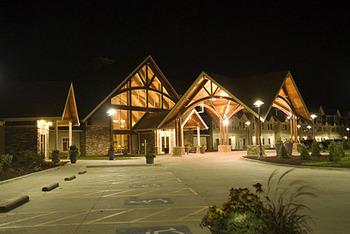 Exterior night view at Honey Creek Resort.