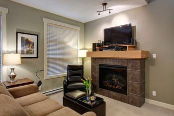 Guest living room at Sooke Harbour Resort & Marina.