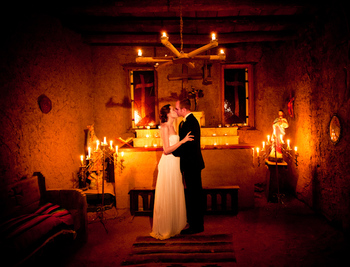 Wedding at Hacienda Vargas Bed and Breakfast.