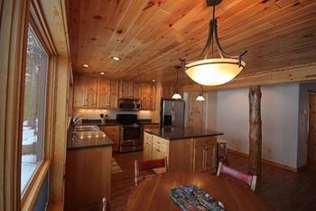 Cabin Interior at Lakeview Resort on Grindstone Lake.