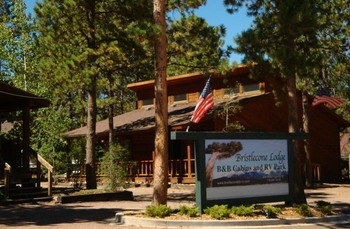 Exterior view of Bristlecone Lodge.