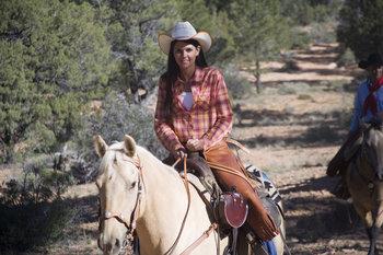 Horseback riding at Ruby's Inn.
