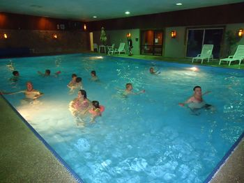 Indoor pool at Holiday Acres Resort.