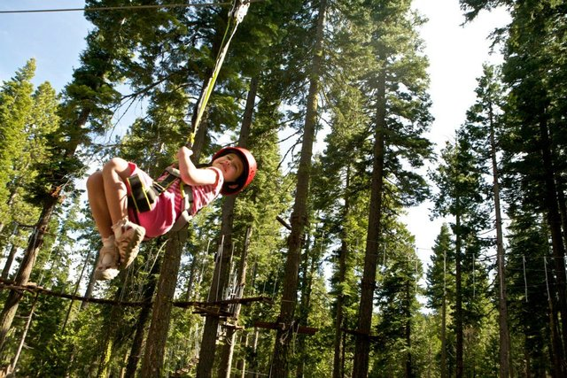Treetop Adventure Park at Granlibakken Resort.