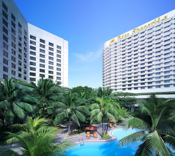 Outdoor pool at Edsa Shangri-La.