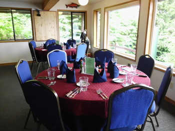 Dining at portsman's Cove Lodge.