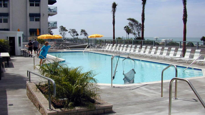 Outdoor pool at Riviera Beach & Spa Resort.