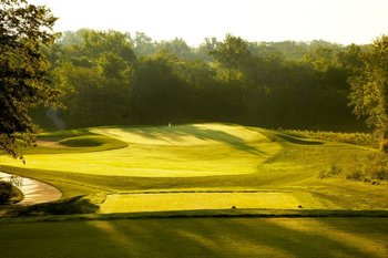 Golf greens at Honey Creek Resort.