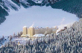 Exterior view of The Fairmont Chateau Lake Louise.
