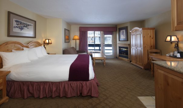 Deluxe room at The Inn at Jackson Hole.