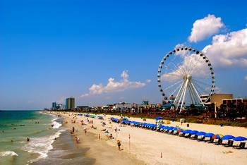 Myrtle beach at Paradise Resort.