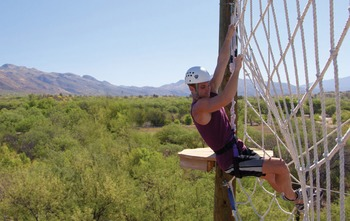 Rope climbing course at Canyon Ranch Tucson.