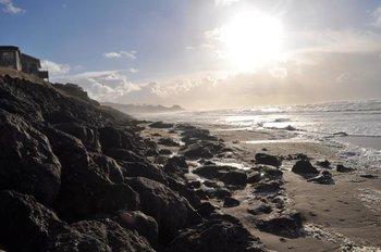 Cavalier Beachfront Condominiums shoreline.