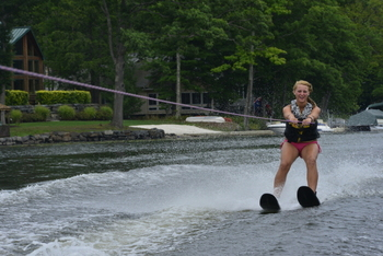 Waterskiing at Woodloch Resort.
