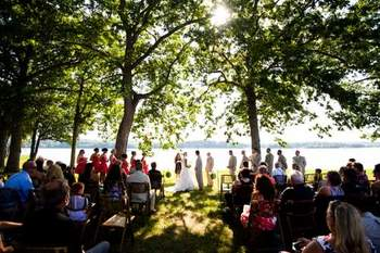 Wedding ceremony at Mallard Point Resort.