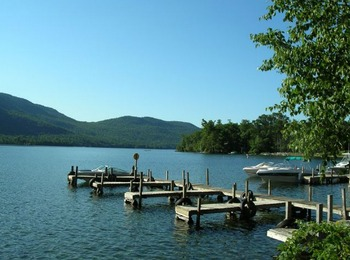 The lake at Northern Lake George Resort.