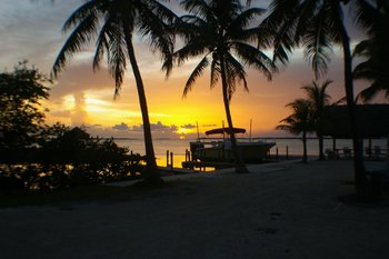 Sunrise at Rock Reef Resort.