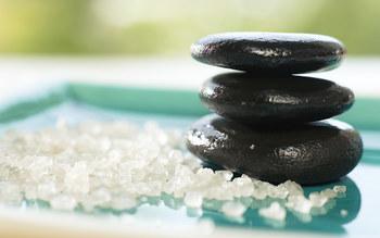 Hot stone massage at James Madison Inn.