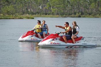 Water activities at Sandestin Golf Resort.