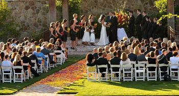 Outdoor wedding at Vintage Inn.