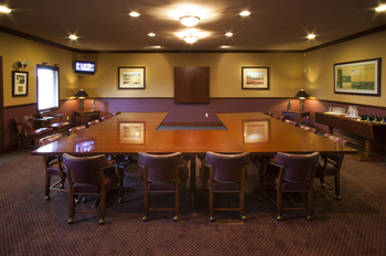 Meeting room at Manistee National Golf & Resort.