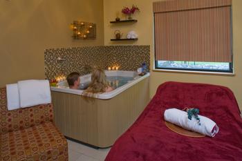Couple's spa treatment at Bonneville Hot Springs Resort & Spa.