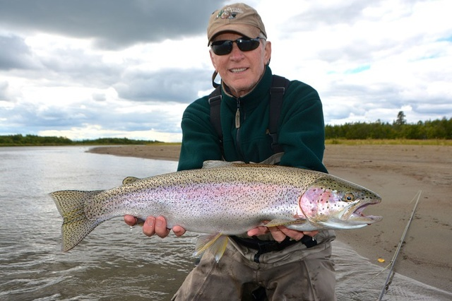 Fishing at Alagnak Lodge.