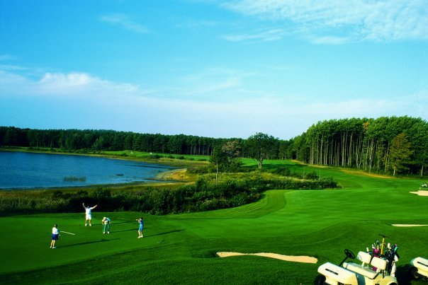 Golf course at Double JJ Resort.