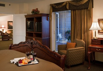 Guest room at Park Place Hotel.