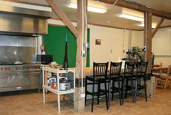 Guest kitchen at Elk Ridge Ranch.